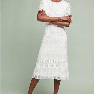 Eri & Ari Anthropologie White Lace Dress Size 0